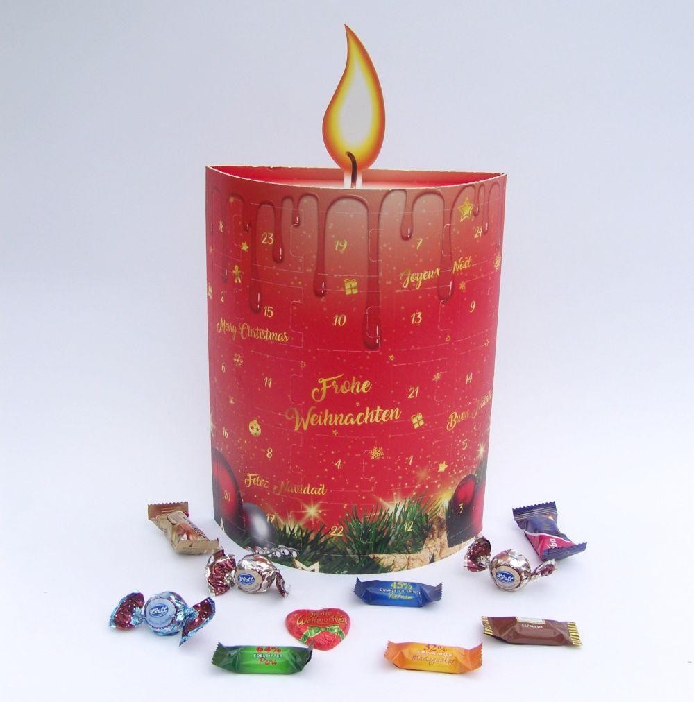 Schokoladen Weihnachtskalender.Adventskalender 3d Kerze
