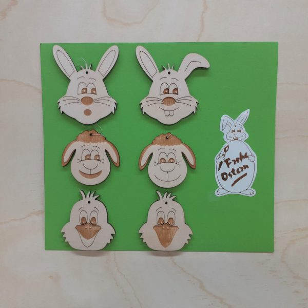 Lustige Osterfiguren